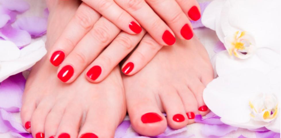 Manicure i pedicure hybrydowy 185 zł